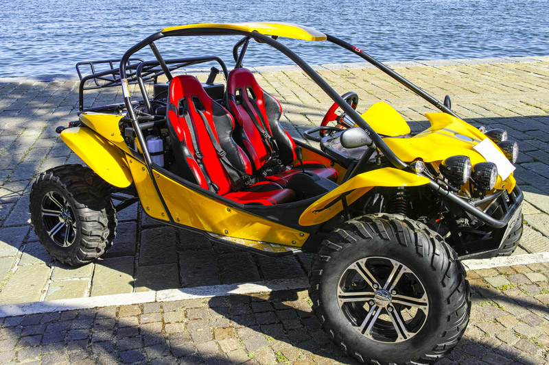beautiful yellow dune buggy