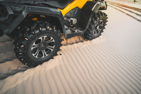 Off-road ATV wheel close up